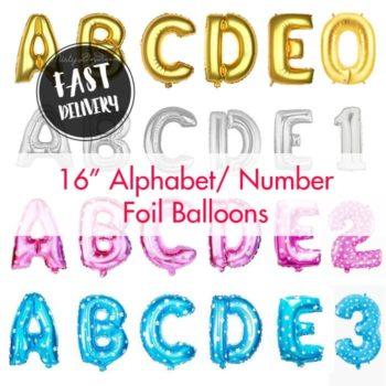 16 inch letter foil balloons