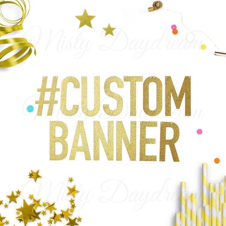 Custom] Gold Glitter Banner   Misty Daydream