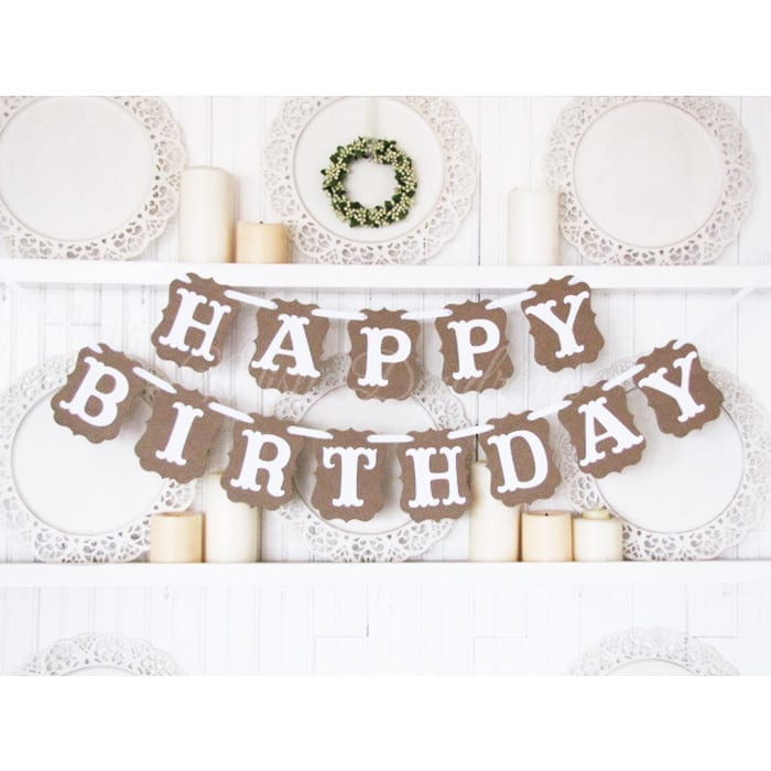 Wonderful HAPPY BIRTHDAY Vintage Banner