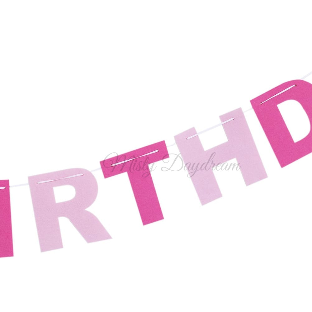 Cut Out HAPPY BIRTHDAY Lettering (Blue/ Pink)