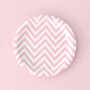 8-pink-chevron-party-plates