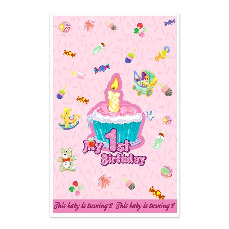 My St Birthday Cake Pink Party Favor Bags Goody Bags Plastic - Plastic birthday cake
