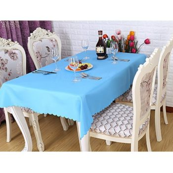 Polyester Fabric Tablecloth U2013 Blue