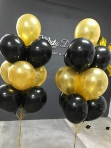 Layer helium balloons bouquet
