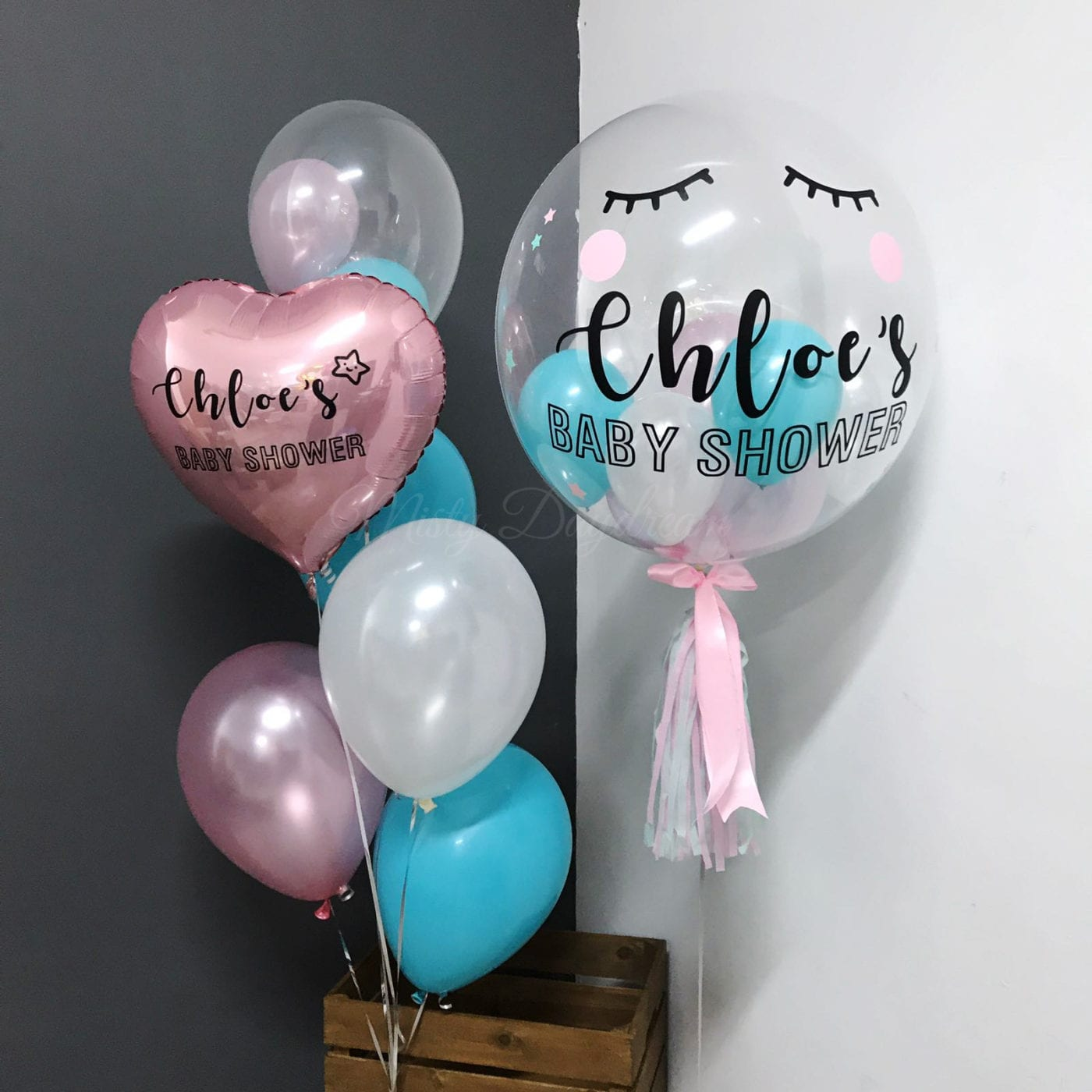 Home By Theme Frozen Designer Balloon With Custom Message 24 Inch Personalized Bubble Stuffed Mini Balloons