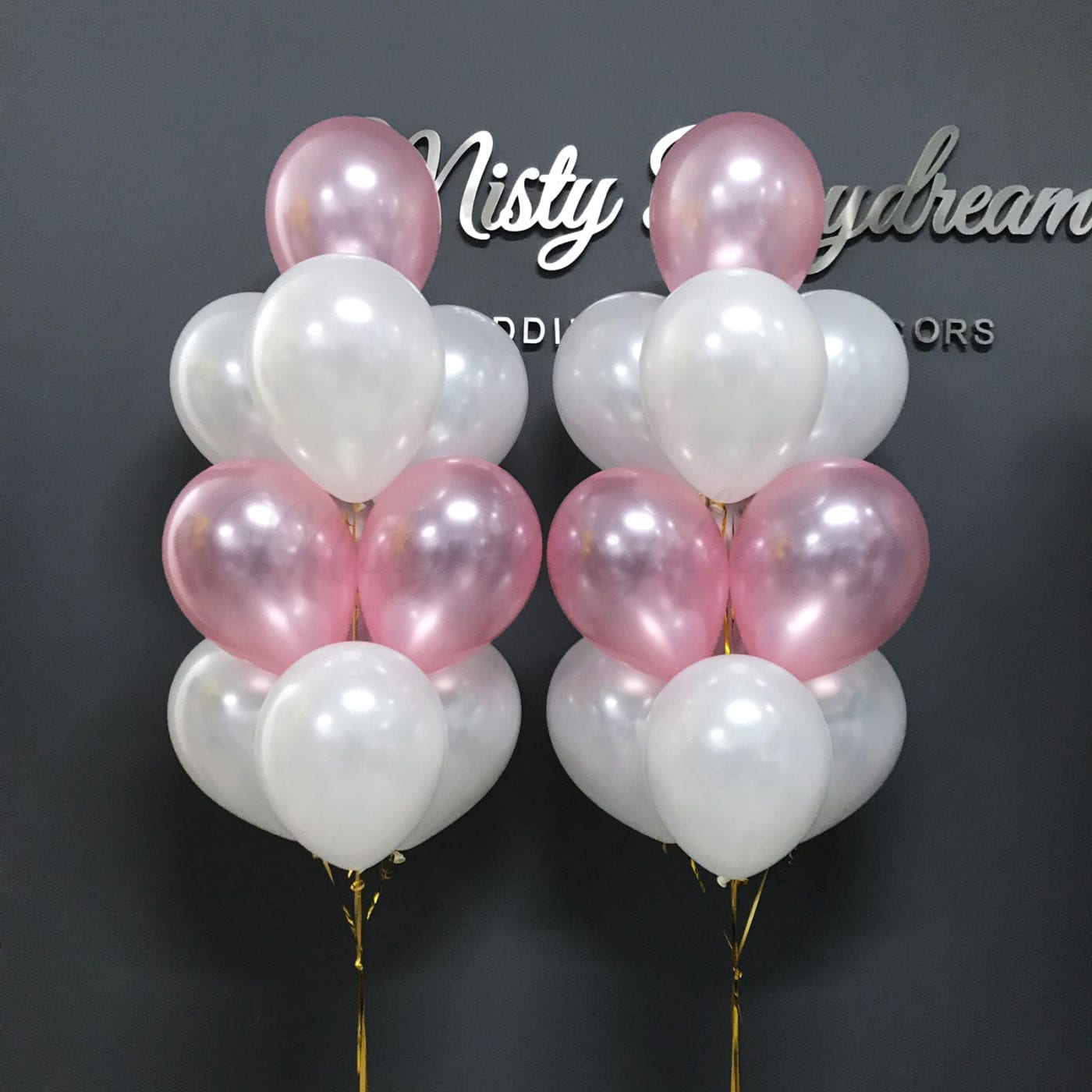 Helium Inflated Balloons Multi Colors Layer Bouquet