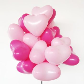 Heart shape latex balloons