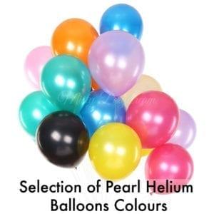 Pearl/ metallic helium balloons