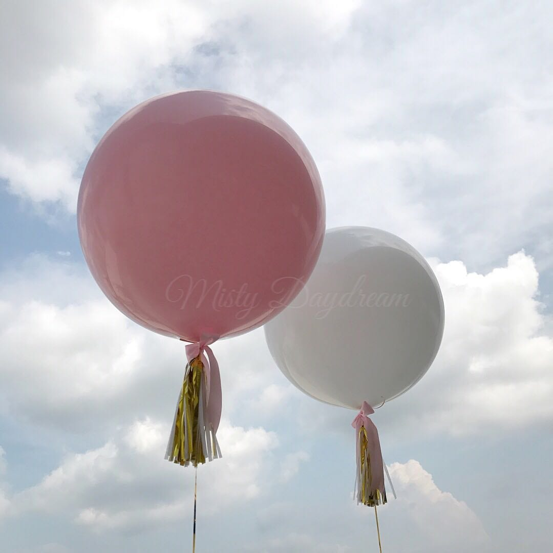Helium Inflated Balloons 36 Inch Plain Balloons