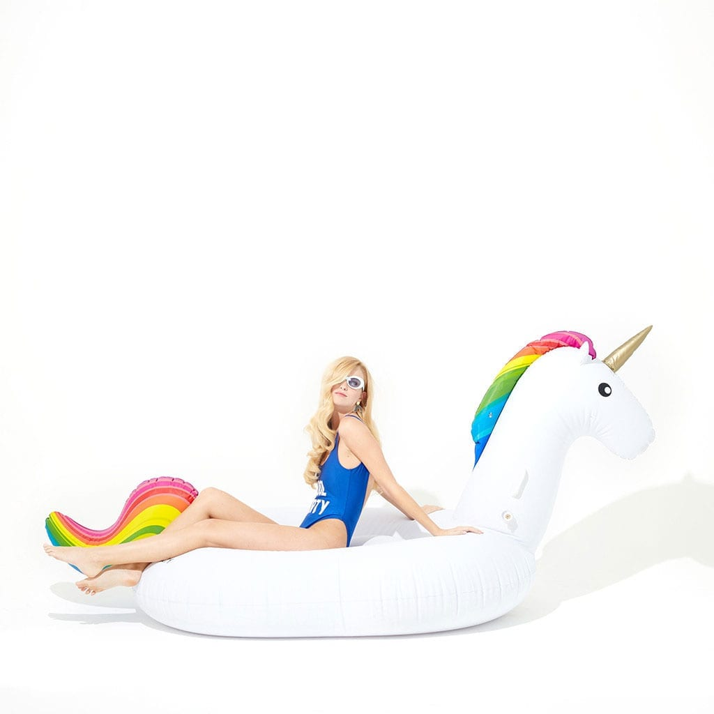 Inflatable Pool Float Rainbow Unicorn Misty Daydream