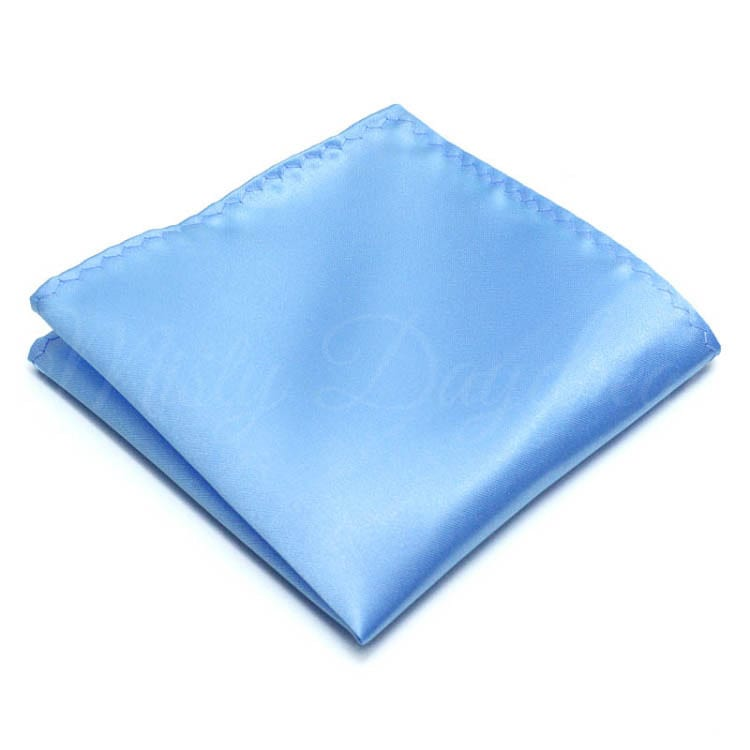 b1eab38d9133d Pocket Square - Baby Blue - Misty Daydream