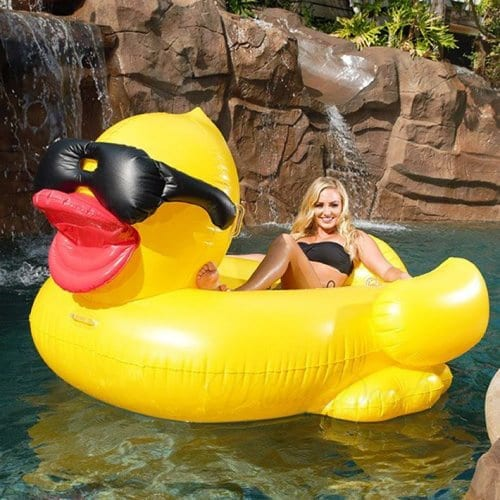 Inflatable Pool Float Giant Yellow Duck Float Misty