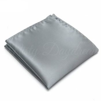 Light Smoke Grey Pocket Square