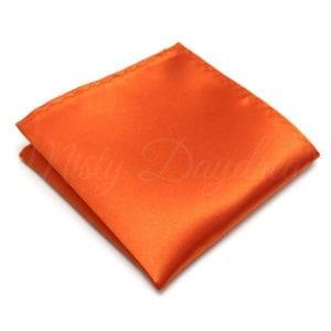 Orange Pocket Square