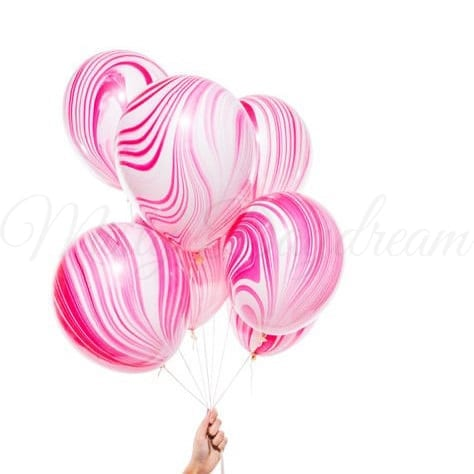 Helium Inflated Balloons 12 Inch Flamingo Marble Latex