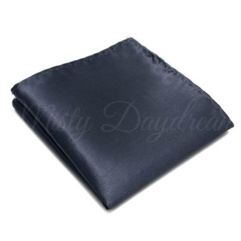 Dark Smoke Grey Pocket Square