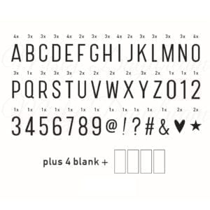 Basic Letter Set (96 cards)