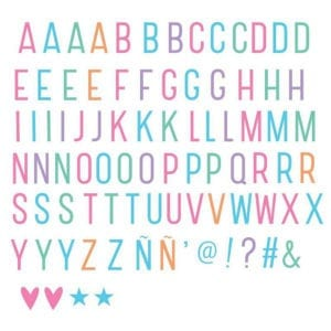 Pastel Letters Plus Set (96 cards)