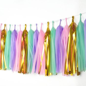 unicorn tassels garlands