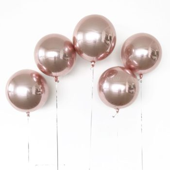 Rose Gold Orbz Balloons