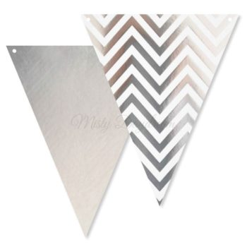 Silver Chevron Bunting Flags
