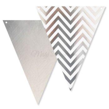 Silver Chevron Bunting Flags