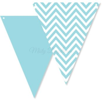 Blue Chevron Bunting Flags