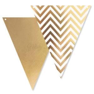 Gold Chevron Bunting Flags