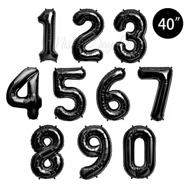 40 inch letter foil balloons black giant mylar letter With black mylar letter balloons