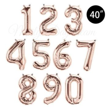 40 inch Rose Gold letter foil balloons