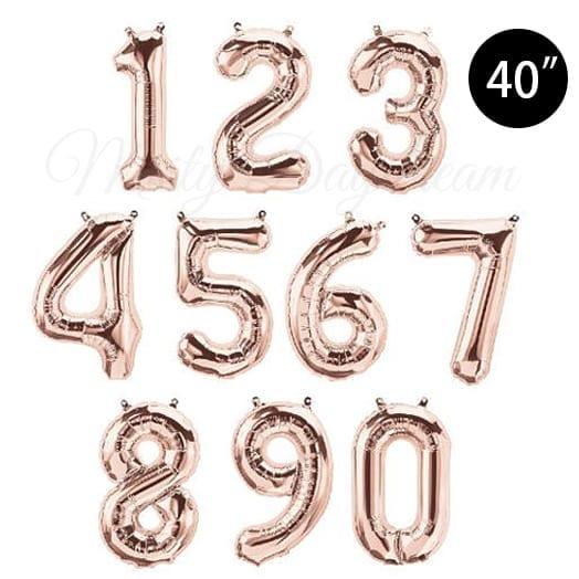 40 Inch Letter Foil Balloons] Rose Gold Giant Mylar Letter Foil