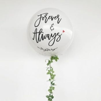 Floral Garland Helium balloons