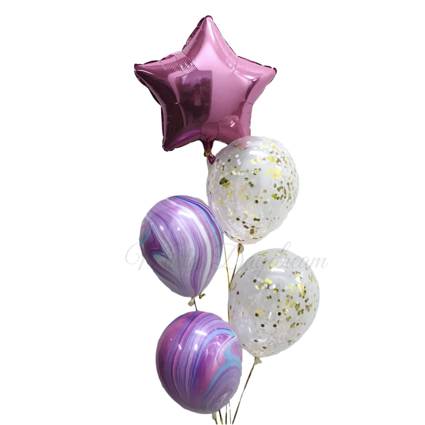 Helium Balloons Star Cascading Marble Amp Confetti