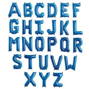 16 inch letter foil balloons Blue