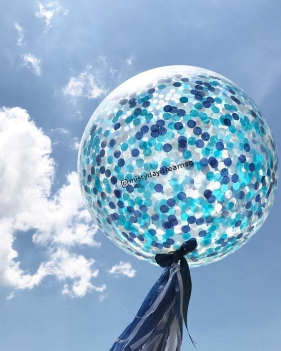 c094f6fbe3e31 36 inch 2.5cm Confetti Balloons] – Ice Blue Confetti Balloons ...