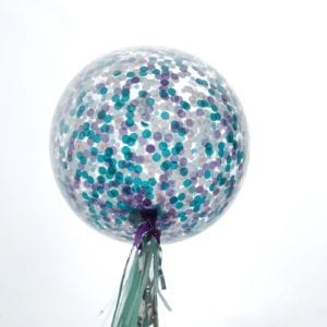 Mermaid confetti balloons