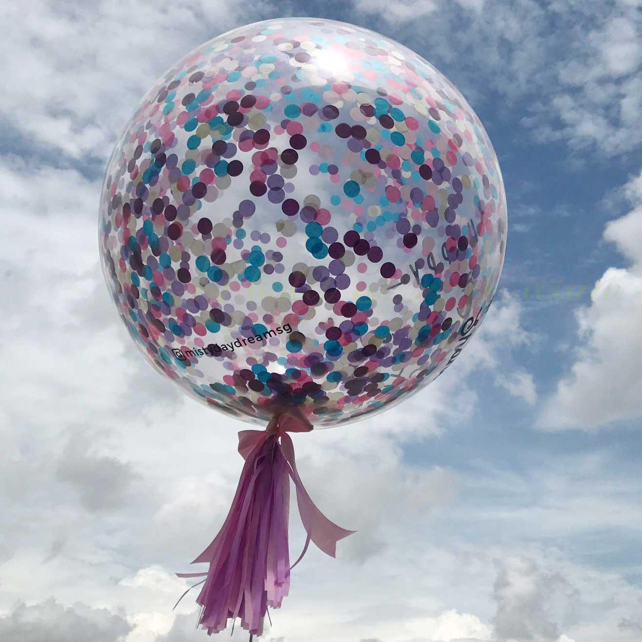 36 Inch 2 5cm Confetti Balloons Princess Confetti
