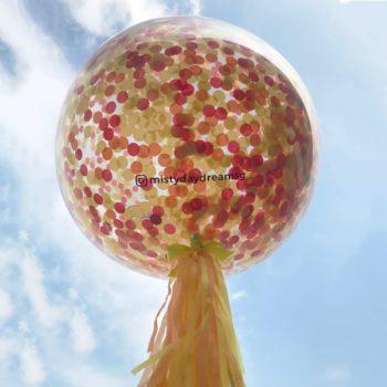 Sherbet Confetti helium balloons