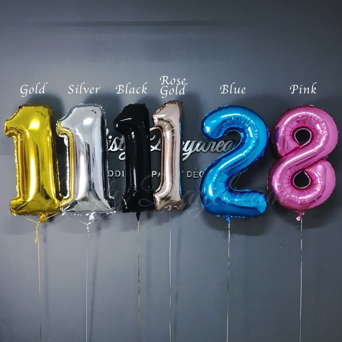 40 Inch Number Foil Balloons Gold Giant Mylar Number