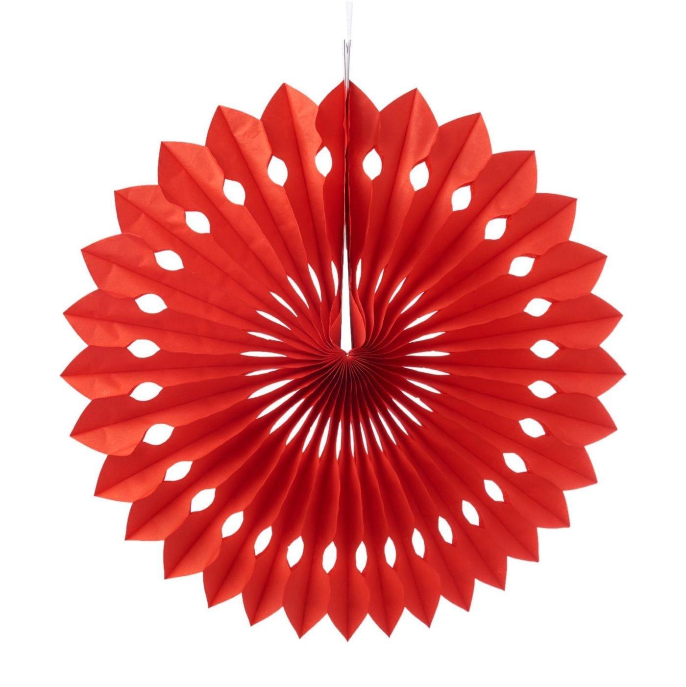 pinwheel paper flower fans red cutout misty daydream