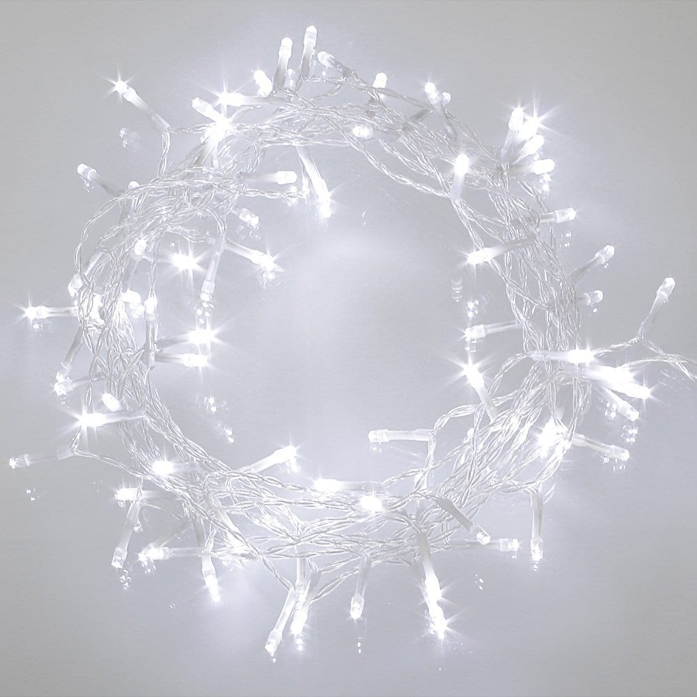 Led String Fairy Lights Cold White Battery Operated