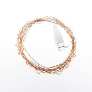LED Copper Wire USB Cold White