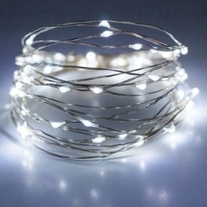 LED Silver Wire Battery Cold White