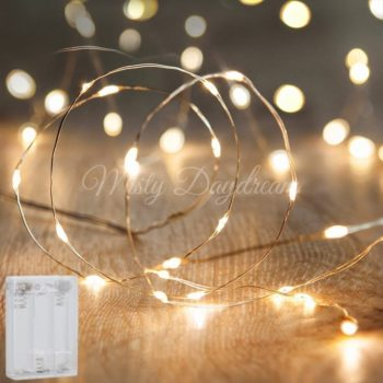 LED Silver Wire Battery Warm White