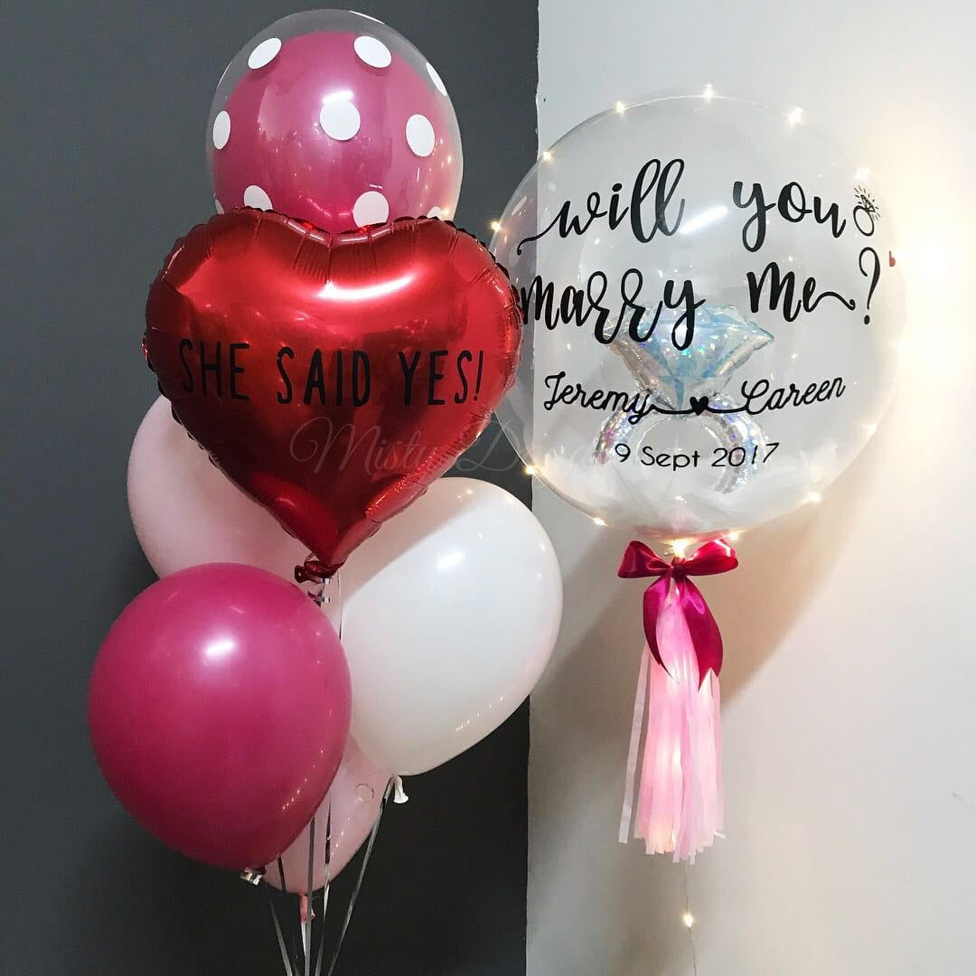 24 Inch Diamond Ring Personalized Balloons