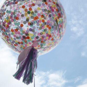 Rainbow Unicorn 36inch confetti balloons