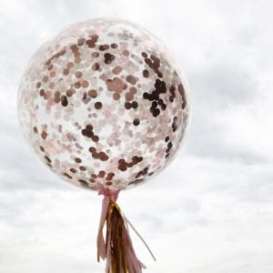 Rose Gold 36inch confetti balloons