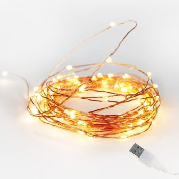 LED Copper Wire USB Warm White