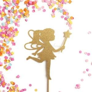 Fairy gold. Glitters cake topper