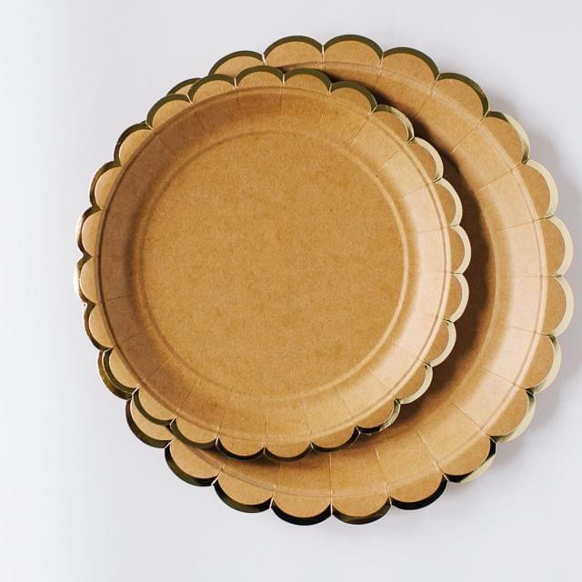 Natural/ Kraft Scallop Edge Small Paper Plates 7u2033 (Set of 8) - Misty Daydream  sc 1 st  Misty Daydream & Natural/ Kraft Scallop Edge Small Paper Plates 7u2033 (Set of 8) - Misty ...